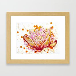 Explosion Lily Framed Art Print