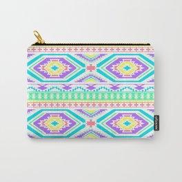 Aztec Geometric Print - Pastel bright colours Carry-All Pouch