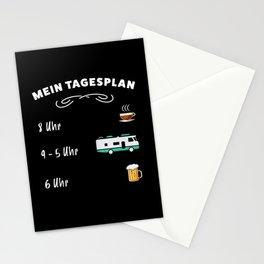 Der Tagesplan: Kaffee, Wohnmobil & Bier Stationery Cards