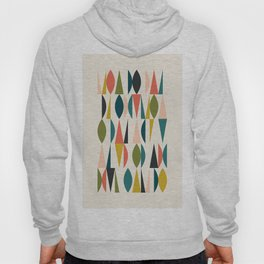 Mid Century Modern Abstract Colorful Shapes Funky Cool Minimalist Pattern Hoody