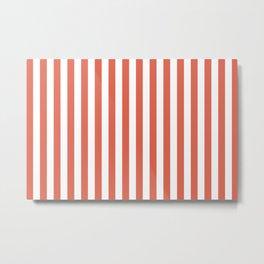 Pantone Living Coral Stripes Thick Vertical Lines Metal Print