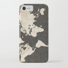 World Map - Ink lines iPhone 7 Slim Case