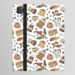 Coffee Break Pattern  iPad Folio Case