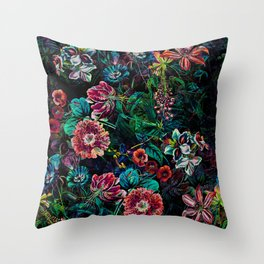 EXOTIC GARDEN - NIGHT IX Throw Pillow