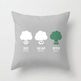 Spew No Evil Throw Pillow