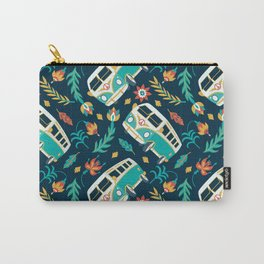Retro Van Floral Pattern Carry-All Pouch