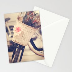 Vintage Bike and Baskwt with flowers Stationery Cards