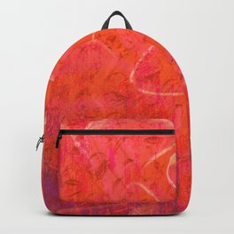 Flaming Rose, Floral Abstract Art Backpack