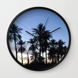 Date Palm Trees Wall Clock