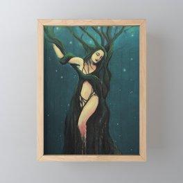 Dryad  // Tree Spirit Woods Forest Faery Goddess Framed Mini Art Print