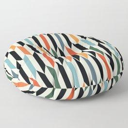 MCC Oddities III - Mid Century Modern Geometric Abstract Pattern - Red Orange Blue Green Black Floor Pillow