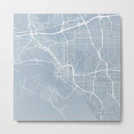 San Diego Map, USA - Slate Metal Print