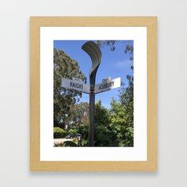 Corner of Haight and Ashbury in San Francisco Framed Art Print