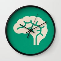 brain Wall Clocks featuring Brain by Blank & Vøid