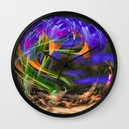 Concept flora : Thanks to you Wall Clock