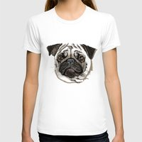 pug T-shirts featuring Pug by Tish