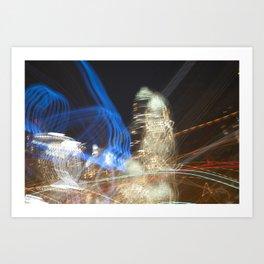 Charlotte, NC Skyline Abstract Art Print