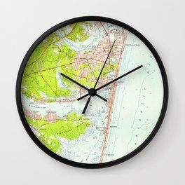 Vintage Map of Point Pleasant NJ (1953) Wall Clock