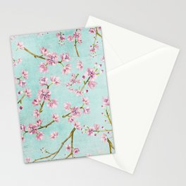 Spring Flowers - Cherry Blossom Pattern Stationery Cards
