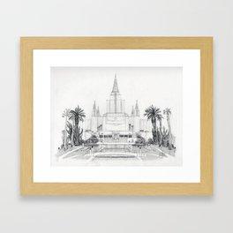 Oakland LDS Temple Framed Art Print