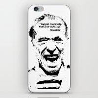 bukowski iPhone & iPod Skins featuring Charles Bukowski Quote World by Fligo