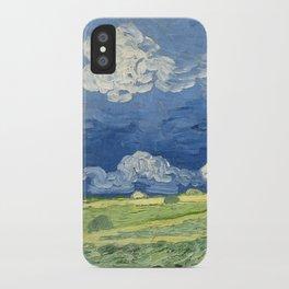 Vincent van Gogh - Wheatfield Under Thunderclouds iPhone Case