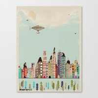 minnesota Canvas Prints featuring visit minneapolis minnesota by bri.buckley