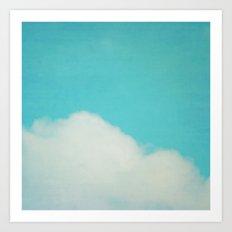 Reclining Cloud Art Print
