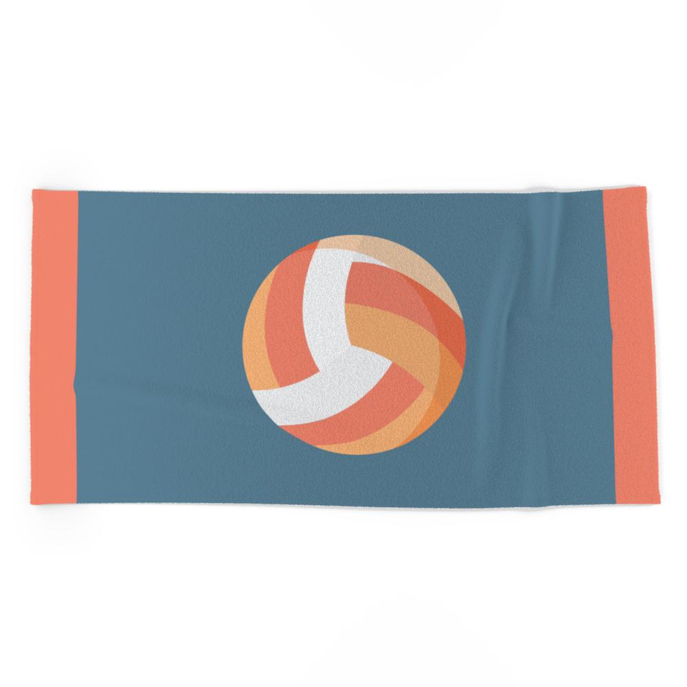 Volleyball Beach Towel by cynthiatiz