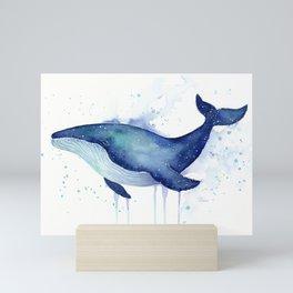 Whale Galaxy Watercolor Mini Art Print