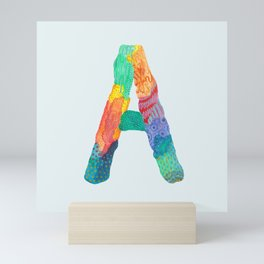 A for Alessandro - Unique, personalised initial print. Mini Art Print