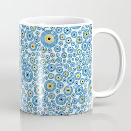 Greek Blue Glass Evil Eye Amulet 1 Coffee Mug