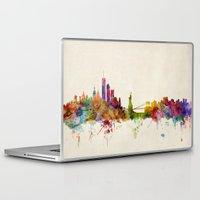 new york skyline Laptop & iPad Skins featuring New York City Skyline by artPause