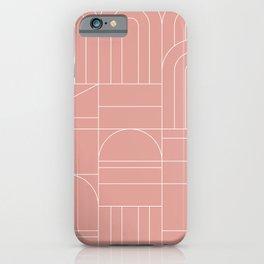 Deco Geometric 04 Pink iPhone Case