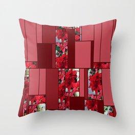 Mixed color Poinsettias 1 Art Rectangles 8 Throw Pillow
