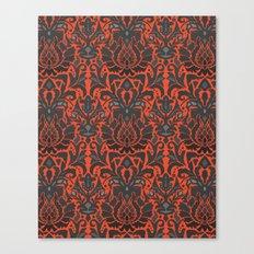Aya damask orange Canvas Print