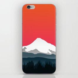 Mount Hood Winter Forest - Sunset iPhone Skin