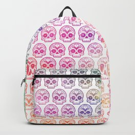 "Custom Design Modern Sugar Skull (""Calavera"") Backpack"