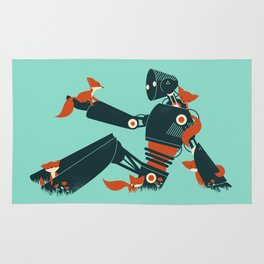 Foxes & The Robot Rug
