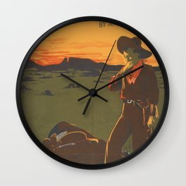 Lost Trail Wall Clock
