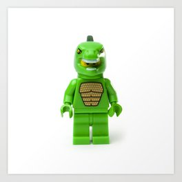 Monster shaped Godzilla Minifig Art Print