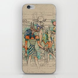 Egyptian Gods on canvas iPhone Skin