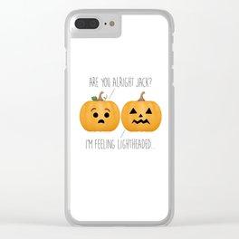Lightheaded Jack-O-Lantern Clear iPhone Case