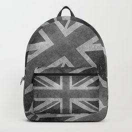 Union Jack Vintage 3:5 Version in grayscale Backpack