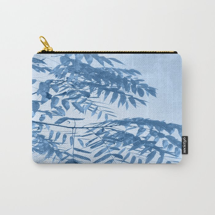Blue Foliage Carry-All Pouch