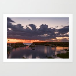Rainy Lanescove Sunset Art Print