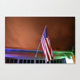 Patriotic at dusk Canvas Print