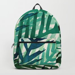Emerald Forest Weekend - Nature Watercolor Backpack
