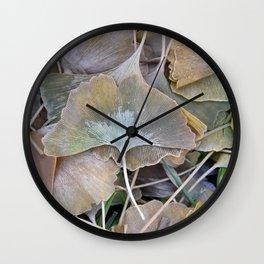 Ginko Leaves in Fall Wall Clock