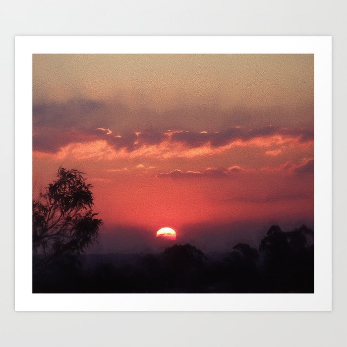 Sweet Pink Orange Sunset Art Print